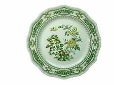 "MASON'S china MANCHU green multicolor DINNER PLATE 10-3/4"" stain"