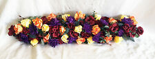 "36"" FALL ARCH SWAG Burgundy Orange Purple Yell Centerpieces Silk Wedding Flowers"
