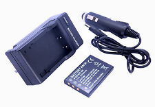 New Battery + Home Battery Charger + Car Adapter for Fuji NP-60 Camera/Camcorder