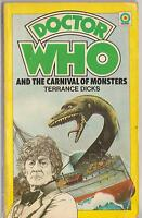 Dr Doctor Who and the Carnival of Monsters. 1st EDITION.  Target books. Pertwee.