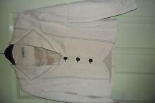 CREAM linen Trouser suit size 14