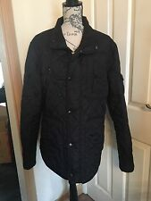 Ladies Next Quilted Black Jacket Coat Size L 18
