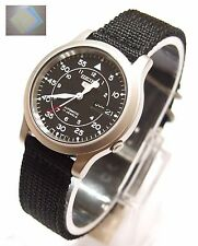 SEIKO 5 SNK809 Military Style Automatic Men's Black Watch SNK809K2 + Gift New !