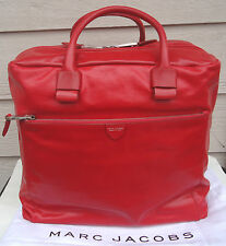 NEW $2495 MARC JACOBS X-Large Prince Antonia Leather Red Duffel Bag Weekender