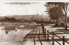 On the Banks of the Lune Lancaster RP pc used 1951 Valentines