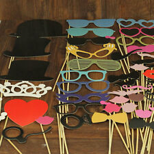 44PCS DIY Mask Photo Booth Props Mustache On A Stick Wedding Birthday Party