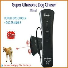 Super Ultrasonic Super Dog Chaser Cat Repeller Double-Heads With LED Light