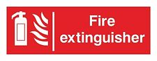 1x FIRE EXTINGUISHER Safety Vinyl Sticker Decal for Work Store Hotel Motel Home