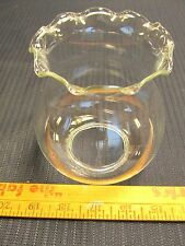 "1 Vintage Chandelier Clear Glass Lamp Shades 4 3/4"" Tall 3 1/4"" Top"
