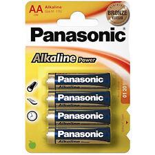 4x AA Alkaline Power PANASONIC- LR06 Mignon LR6 - BATTERIEN - 1,5 Volt * Size M