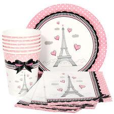 Paris Party Pack for 16 - Plates, Napkins & Cups