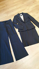 Ronit Zilkha pinstripe black suit 10 jacket high-waisted skirt bootcut trousers