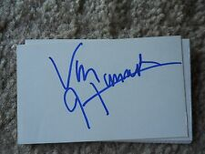 Van Hammer Autographed Index Card