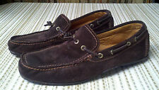Tommy Bahama Coffee Brown Suede/Leather Slip On Loafers Mens Shoes Size 8