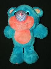 """Vtg 1987 Playskool Nosy Bear Chexter Balloon Plush Nosey Blue Pink 11"""" Rare!!"""