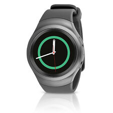 Samsung Gear S2 (SM-R720) Android Smartwatch w/ Rubber Band - Dark Gray