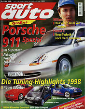 sport auto 1/98 1998 Volvo V70 T5 BMW 318ti Compact Eggenberger Mondeo Raptor Z