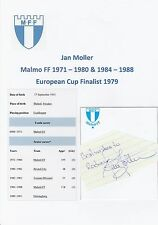 Jan Moller Malmo FF 1971-1980 & 1984-1988 Original Firmada A Mano cutting/card