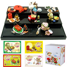 Set of 8 ORCARA Miniature Dollhouse Chinese Festival Snack for Re-ment Gift Toy