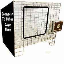 "1 RITE FARM PRODUCTS ADD ON 24""X24"" WIRE RABBIT CAGE BUNNY INDOOR OUTDOOR MEAT"
