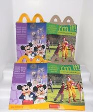 """Two Walt Disney """"Happiest Celebration on Earth"""" Happy Meal BOXES~2005 McDonalds"""