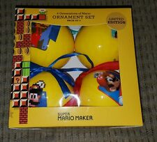 New Super Mario bros. Maker 30th Ann. Christmas Ornaments Gamestop Exclusive 4pc