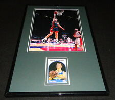 Detlef Schrempf Signed Framed 11x17 Photo Display Pacers Sonics