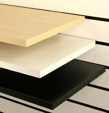 2x Particle Board Shelves with brackets for Slatwall Melamine wooden