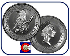 1995  Australia Kookaburra 1 oz. Silver Coin - BU direct from Perth Mint roll