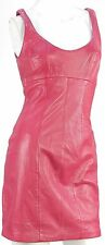 MICHAEL HOBAN NORTH BEACH Women's Red Leather 1 Piece Dress Size 5/6