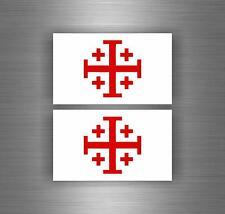Sticker car biker jerusalem decal crusader cross templar knights die cut airsoft
