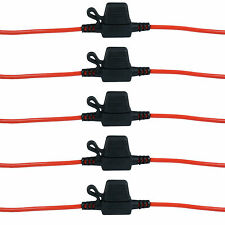 5x In Line Standard Blade Fuse Holder Splash WaterProof for 12V Fuses Car Bike