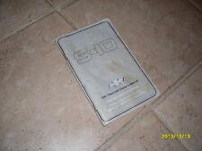 1987 Chevrolet S-10 Owners Manual Owner's Guide Book Original