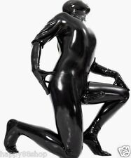 100%Latex Rubber Gummi Ganzanzug Black Cool Catsuit Fashion Bodysuit Size XS-XXL