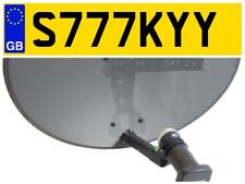S777 KYY SKY DIGITAL SATELLITE HD TV AERIAL DISH BOX INSTALLER VAN NUMBER PLATE