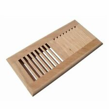 Self Rimming, Drop in, OAK Wood Floor Air Vent Register, unfinished.4''X12''