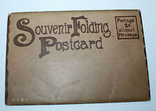 Vintage Souvenir Folder Folding Postcard Set D&R G Train Railroad Travel Images