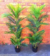 2 X 150cm Areca Palm Tree Potted ARTIFICIAL Get 2 trees 5ft Silk Plant Fake