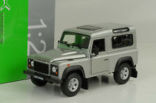 Land rover Defender station 90 td5 e silver argent 1:24 welly