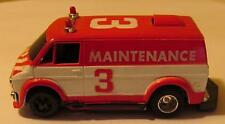 Tyco Maintenance Van Red/White with Command Control Slotless Obstacle Chassis