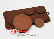 Football Soccer Ball Lolly Chocolate Candy Silicone Bakeware Mould Cake Wax Soap