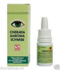 2X Schwabe Cineraria Maritima Eye Drops With Alcohol Made In German 10ml