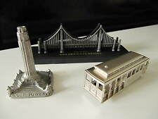 SAN FRANCISCO Metal Souvenir Building COIT TOWER CABLE CAR GOLDEN GATE BRIDGE