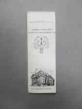 Vintage BOOKMARK MANSION HOUSE Lord Mayor Alderman Denys Lowson 1950s Bryant May