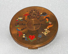 "Vintage Le Rage rendezvous powder compact ""Dial a date"" 1950 England"