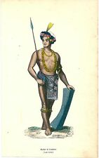1852 COSTUME TONDANO lithography Minahasa Regency North Sulawesi Indonesia