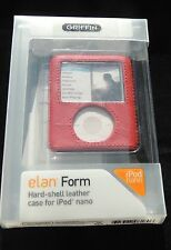 Griffin Elan Form Red Hard Shell Leather Case Cover for Ipod Nano 3rd 3G NEW