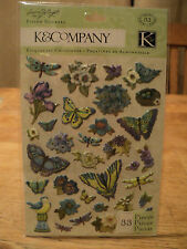 K&CO SUSAN WINGET BOTANICAL ICON PILLOW STICKERS BNIP