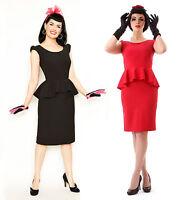 WIGGLE DRESS 8 10 12 14 16 50s style Dress Retro Plus Size Dress 18 Rockabilly