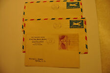1949 CANAL ZONE 4-CENT STAMP & 6-CENT AIR MAIL ENVELOPE FDI